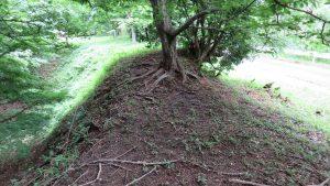 山野城の横堀の土塁