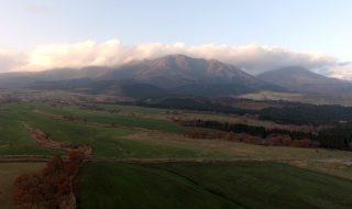 Kuju mountain range in autumn. Drone video in Aso Kuju national park (4K) 20161122