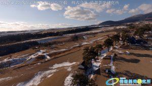 絶景 冬の久住高原と 美しい冠雪したくじゅう連山 ドローン空撮4K写真 20170124 vol.3