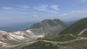 写真:2017年の三俣山と硫黄山