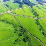 緑香る絶景ドライブコース デートや旅行にオススメ! 県道669号線 天空のプロムナード 本山登山道周辺ドローン映像 4K Drone video in Kuju Plateau